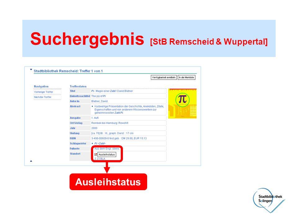 Suchergebnis [StB Remscheid & Wuppertal]